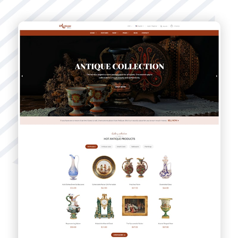 Collectible onlineShop